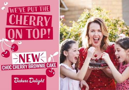 NEW Choc Cherry Brownie Cake